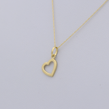 Real Gold Side Hook Heart Necklace CWP1522 - 18K Gold Jewelry