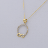 Real Gold Stone Infinity Necklace CWP1529