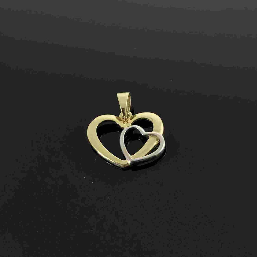 Real Gold 2C2 Heart Pendant 001 - 18k Gold Jewelry