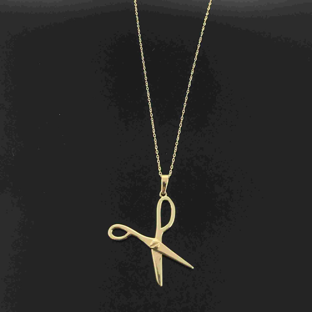 Real Gold Scissor Necklace - 18k Gold Jewelry