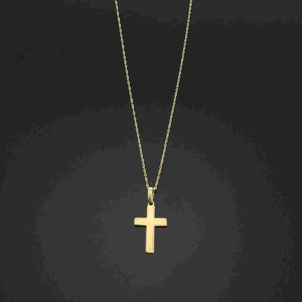 Real Gold Cross Necklace 105 - 18k Gold Jewelry