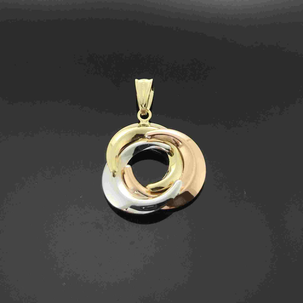 Real Gold 3C Moon Pendant - 18k Gold Jewelry