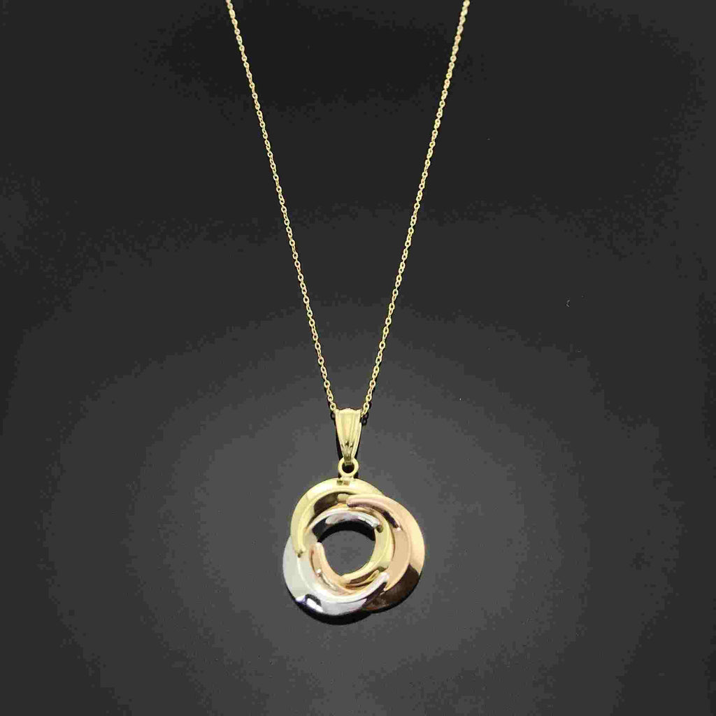 Real Gold 3C Moon Necklace - 18k Gold Jewelry