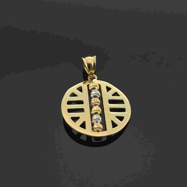 Real Gold 3C Round 6 Ball Pendant - 18k Gold Jewelry