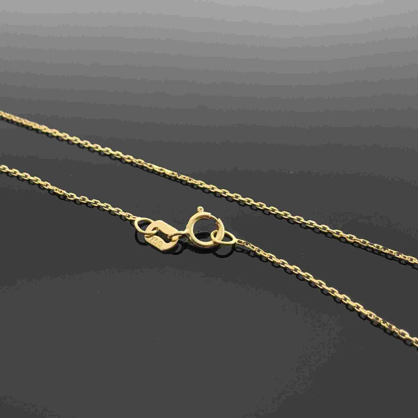 Real Gold Round Cable 04 Chain (40 C.M)
