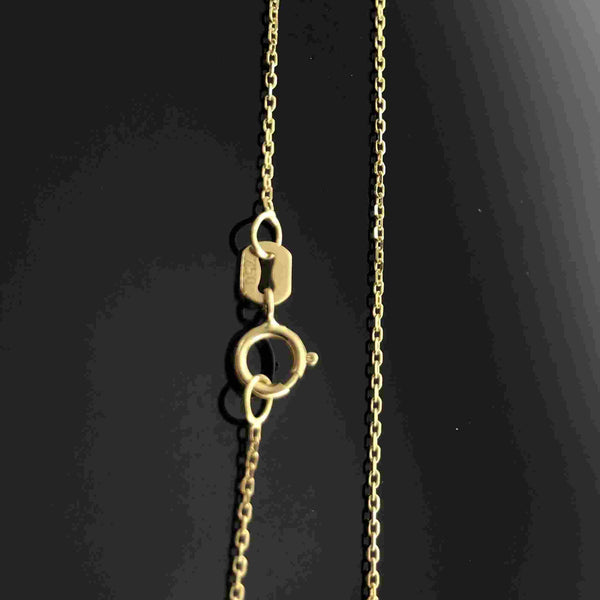 Real Gold Round Cable Chain 04 (40 C.M) - 18k Gold Jewelry