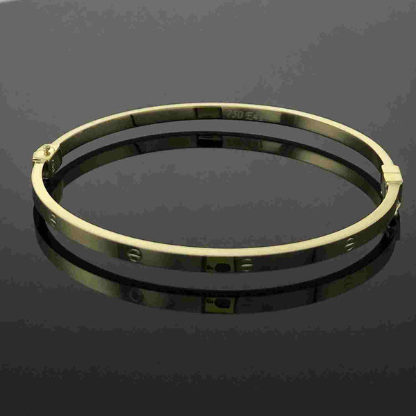Real Gold CR Bangle 03 - 18k Gold Jewelry