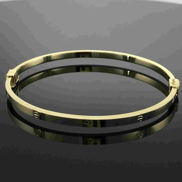 Real Gold CR Bangle 10 - 18k Gold Jewelry