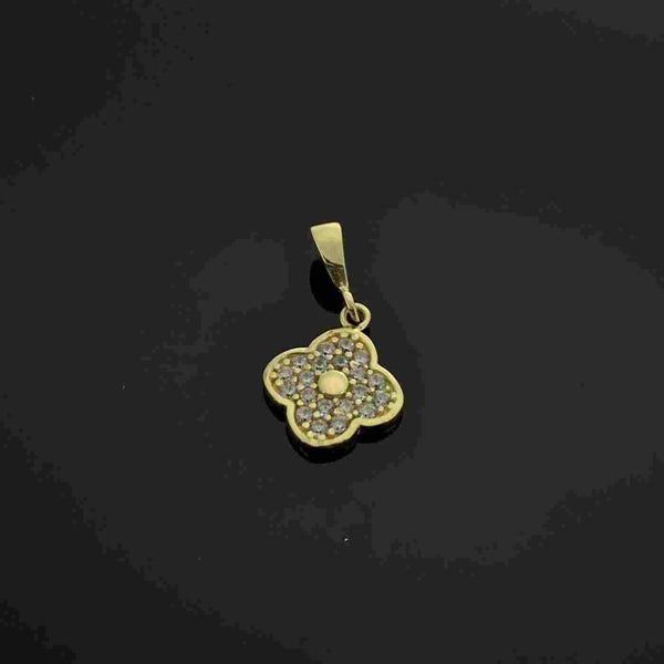 Real Gold 4 Leafs Pendant - 18k Gold Jewelry