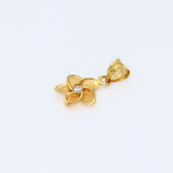 Real Gold Flower Stone Pendant 1587