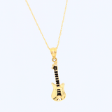 Real Gold Guitar Necklace 2491