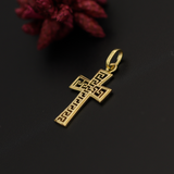 Real Gold MH Cross Pendant 2020 - 18K Gold Jewelry