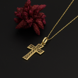 Real Gold MH Cross Necklace 2020 - 18K Gold Jewelry