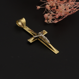 Real Gold 2C 3D Cross Pendant