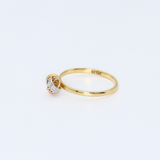 Real Gold 3C 3 Ring 6376 (SIZE 6) - 18K Gold Jewelry