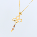 Real Gold 3C Infinity Key Necklace 1744 - 18K Gold Jewelry