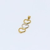 Real Gold 2C3 Heart Pendant 1841 - 18K Gold Jewelry
