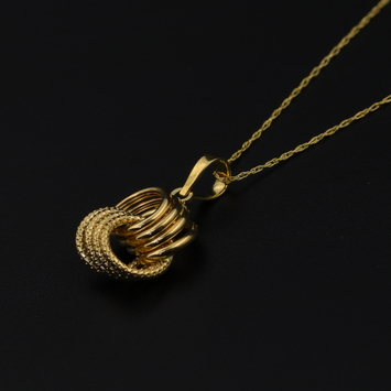 Real Gold 4 Ring Necklace