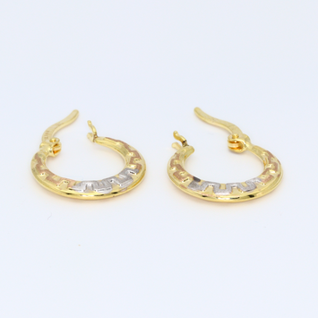 Real Gold 3C Earring Set 1577 - 18K Gold Jewelry