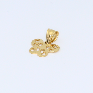 Real Gold Butterfly Pendant 2304 - 18K Gold Jewelry