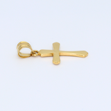 Real Gold Cross Pendant 0673 - 18K Gold Jewelry