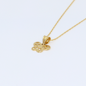 Real Gold Butterfly Necklace 2304 CWP1530