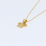 Real Gold Butterfly Necklace 2304 CWP1530 - 18K Gold Jewelry