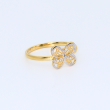 Real Gold 2C Butterfly 8050 Ring (SIZE 6) R1307 - 18K Gold Jewelry