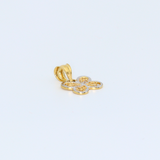 Real Gold 2C Butterfly 8050 Pendant P1565