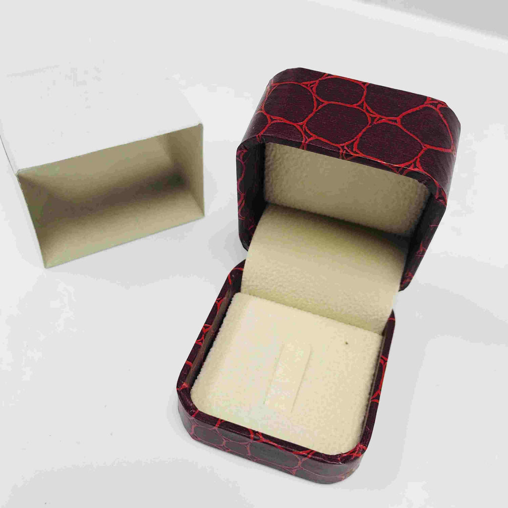 Gift Box For Ring - Red - 18K Gold Jewelry