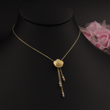 Real Gold 3 Color Flower Necklace