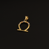 Real Gold 3C Omega Pendant - 18K Gold Jewelry