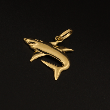 Real Gold Memo Fish Pendant - 18K Gold Jewelry