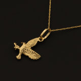Real Gold Falcon Bird Necklace 2020 - 18K Gold Jewelry