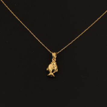 Real Gold Fish Necklace 002