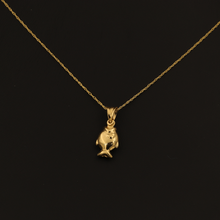 Real Gold Fish Necklace 002 - 18K Gold Jewelry