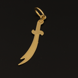 Real Gold Sword Pendant 2020 P1257 - 18K Gold Jewelry