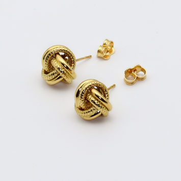 Real Gold Twisted Earring Set 6029