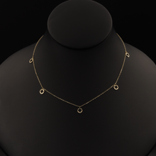 Real Gold VC Dangler Necklace - 18K Gold Jewelry