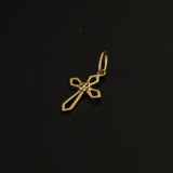 Real Gold 1 Color Cross Pendant 2020 - 18K Gold Jewelry