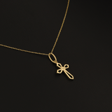 Real Gold 1 Color Cross Necklace 2020