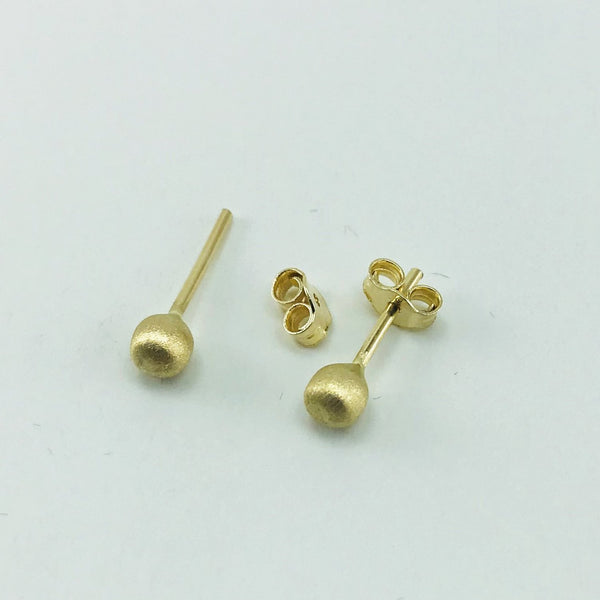 Real Gold Silk Stud Earring Set - 18k Gold Jewelry