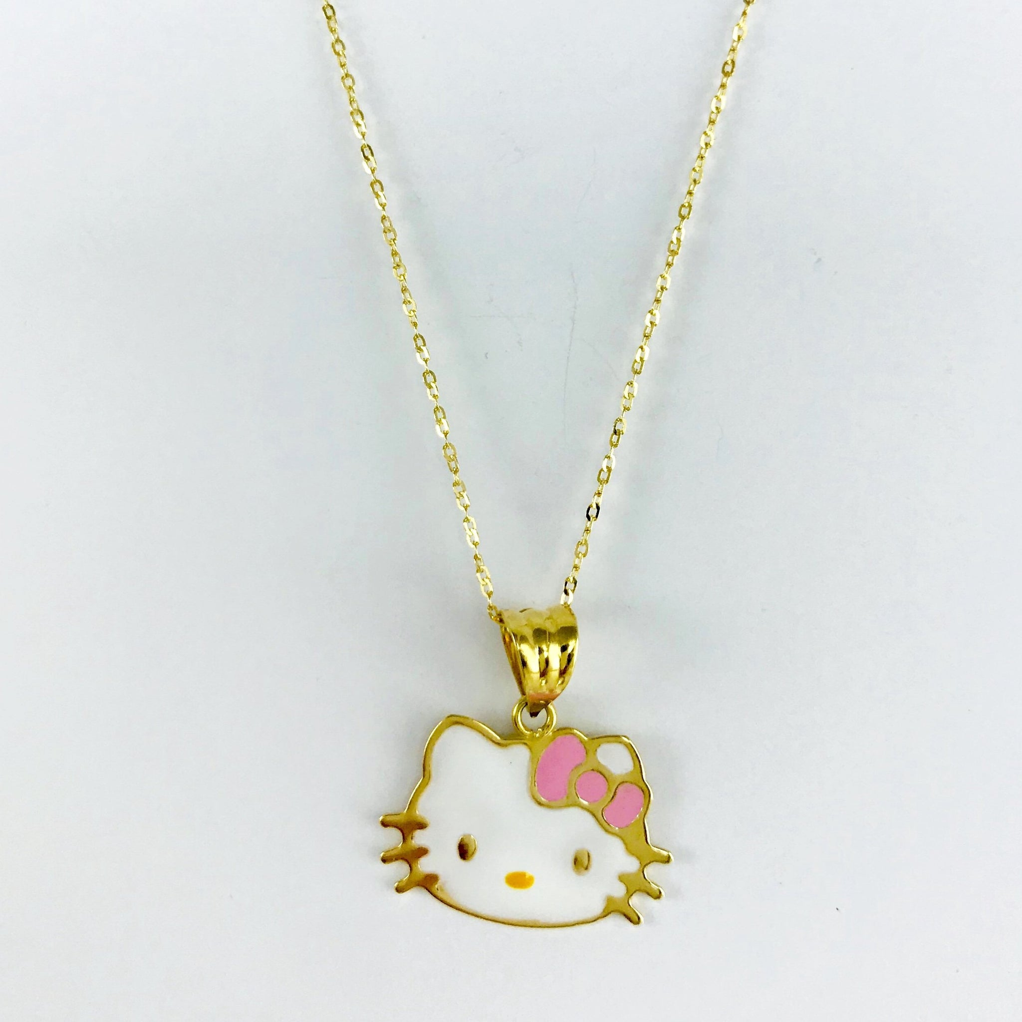55b80bd91 Real Gold Chain With Gold Hello Kitty Pendant – Gold Zone