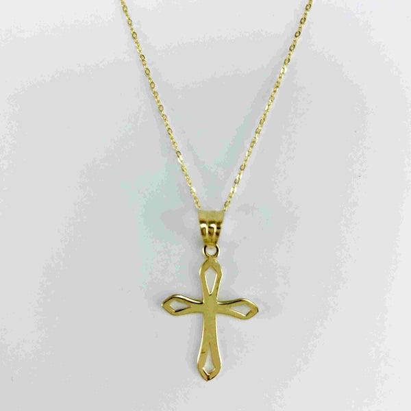 Real Gold Chain With Gold Cross Pendant 101 - 18k Gold Jewelry