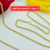 Real Gold Rope Chain (60 C.M)