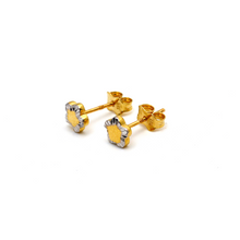 Real Gold 2 Color Star Earring Set E1602 - 18K Gold Jewelry
