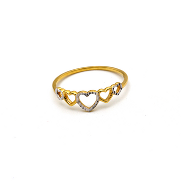 Real Gold 5 Heart Ring (SIZE 7) R1598
