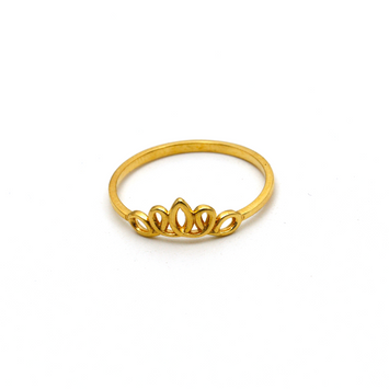 Real Gold Crown Ring (SIZE 7) R1599
