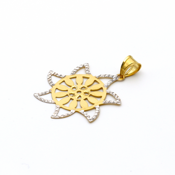 Real Gold 2C Sunflower GZP 001 Pendant 2020 - 18K Gold Jewelry