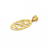 Real Gold 2C Oval Hearts GZP 005 Pendant 2020 - 18K Gold Jewelry